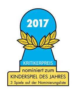 Kinderspiel des Jahres 2017 Nominierungen