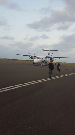 Dharavandhoo island has it's very own domestic airport in the Maldives. Dante Harker