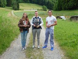 Die Spitzenränge v.l.n.r.: Réka (2), Janina (1), Olivier (3)