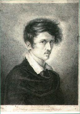 Foto: Selbstbildnis Ludwig Emil Grimm, Radierung, Historisches Museum Hanau