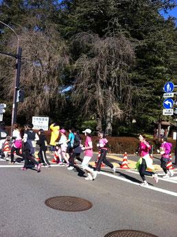 東京マラソンを完走した梶部長