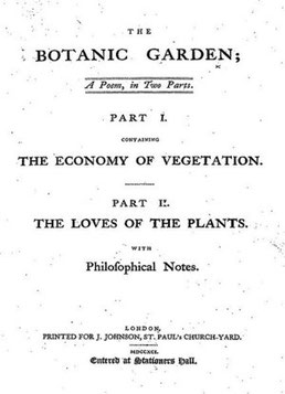 Title page to 'The Botanic Garden', (1791).