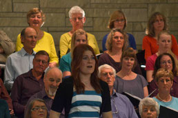 Jessie Rosewarne performs 'A Change In Me' at the Edgecumbe Choir's 'Pops From the Edge' Concert