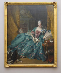 Madame de Pompadour, Francois Boucher, 1756, Neue Pinakothek München. Foto von Nina Möller - Mode Kleidung Rokoko
