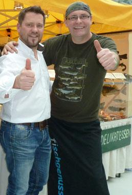 Starkoch Mike Süsser mit fischgenuss Chef Andreas Nägler