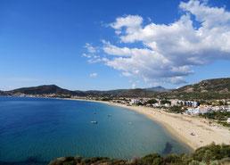 Nea Iraklitsa for beaches, food, climbing and water sports.