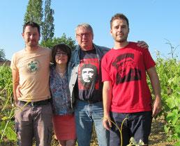 Myriam, Bernard, Florent et Romain Plageoles