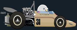 Gus Hutchison by Muneta & Cerracín - Brabham BT26A - Ford Cosworth