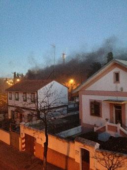Incendio en Vicálvaro. La Cantera. Calle Titanio 1