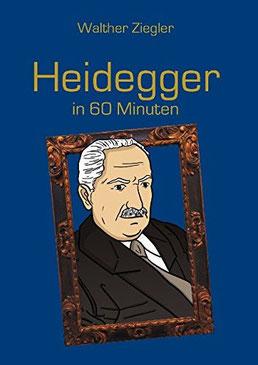 Heidegger; Bild von Martin Heidegger; Comiczeichnung von Heidegger; Bild von Kopf von Heidegger; Portrait von Heidegger