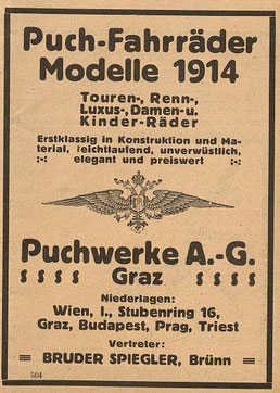 Österr. Fahrrad- und Automobil-Zeitung, 25. April 1914