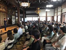 満堂となった清水健さんの講演会   6月17日