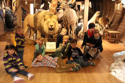 Kinder im Naturkundemuseum in Erfurt