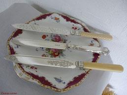 Antike Kuchenmesser versilbert aus England