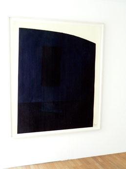 """Richard Serra,""""Patience"""", 1984, Ölstift auf Papier, 157 x 133, gerahmt, 168 x 145 cm, 9/20"""