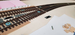 handbemalte Gleise - nicht zufriedenstellend