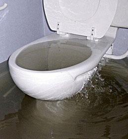 Toilette bouchée