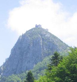 Bild: Montségur, Schicksalsberg der Katharer