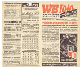 Tippvorschau in BW im Jahr 1958