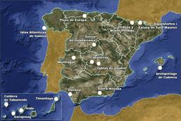 Mapa de Parques Nacionales.