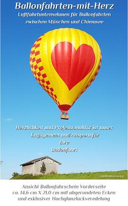 Ballonfahrt, Herzballon, München