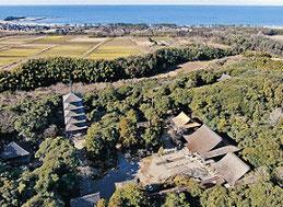 石川県能登滝谷「妙成寺」周辺の様子。  長濱家はここから集団で北海道に移住した。