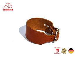 Windhundhalsband Leder cognac für Windspiele oder kleine Windhunde Bolleband