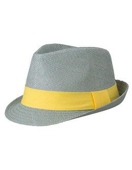 Werbeartikel Hut mit Logo bedrucken Mafiahut Strohhut