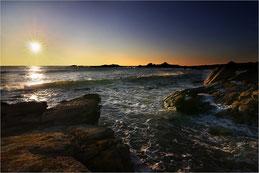 Coucher sur le littoral