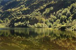 Reflets sur l'étang de Lers en Ariège