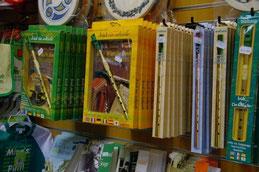 tin whistle in a souvenir shop