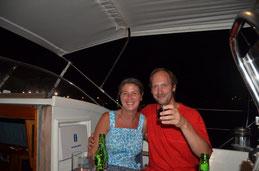 Debora und Jacko von der Kwispel, Charlotteville, September 2013