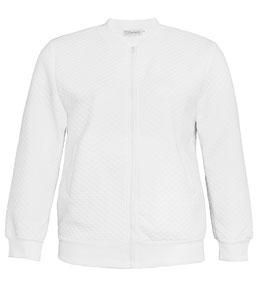 weiße Jacke in XXL , tendiger Blouson in übergrößen