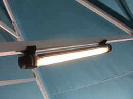 Licht für Gastronomie Sonnenschirm