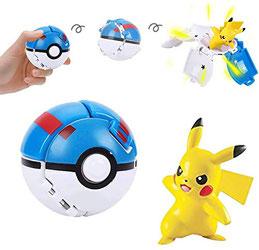 Pikachu Figur mit Superball