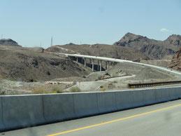 die neue Brücke am Hoover Dam