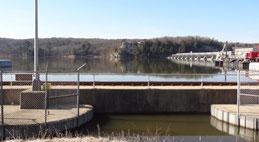 Schleuse am Illinois Waterway Visitor Center