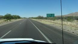 auf der Interstate 19 von Nogales nach Tucson