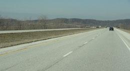 auf der Interstate 72 über den Illinois River