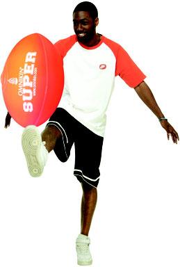 Ballon de foot Américain ou rugby de Kin-ball Omnikin pas cher.