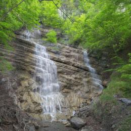 Auf dem Rheintaler Höhenweg, Wasserfall Luterbach
