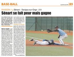 LA REP 30/03/2015 : Baseball
