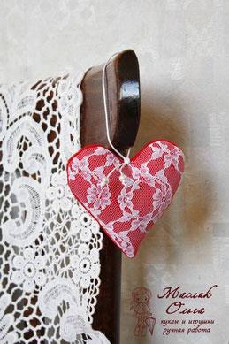текстильные сердечки, автор Маслик Ольга