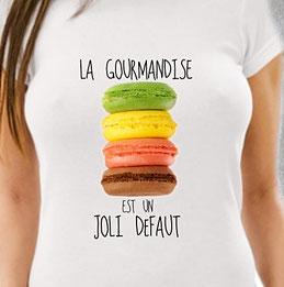 teeshirt femme gourmande