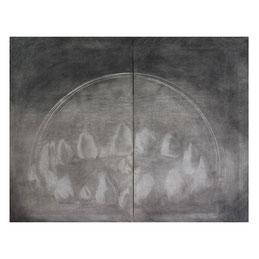 o.T., 100x140 cm, Kohle auf Papier, 2017