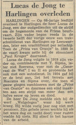 Friese koerier - 21-06-1961