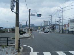 アクセス 川棚温泉駅交差点の写真
