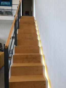 Eclairage par ruban led escalier maison allauch 13190