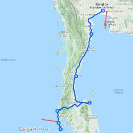 Reiseroute (Teil 1)