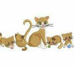 Katze mit Kids